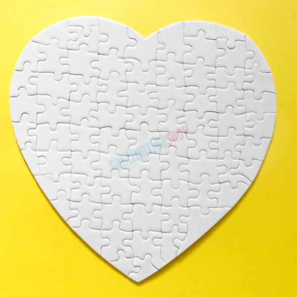 Puzzle szív alakú 20x25 cm