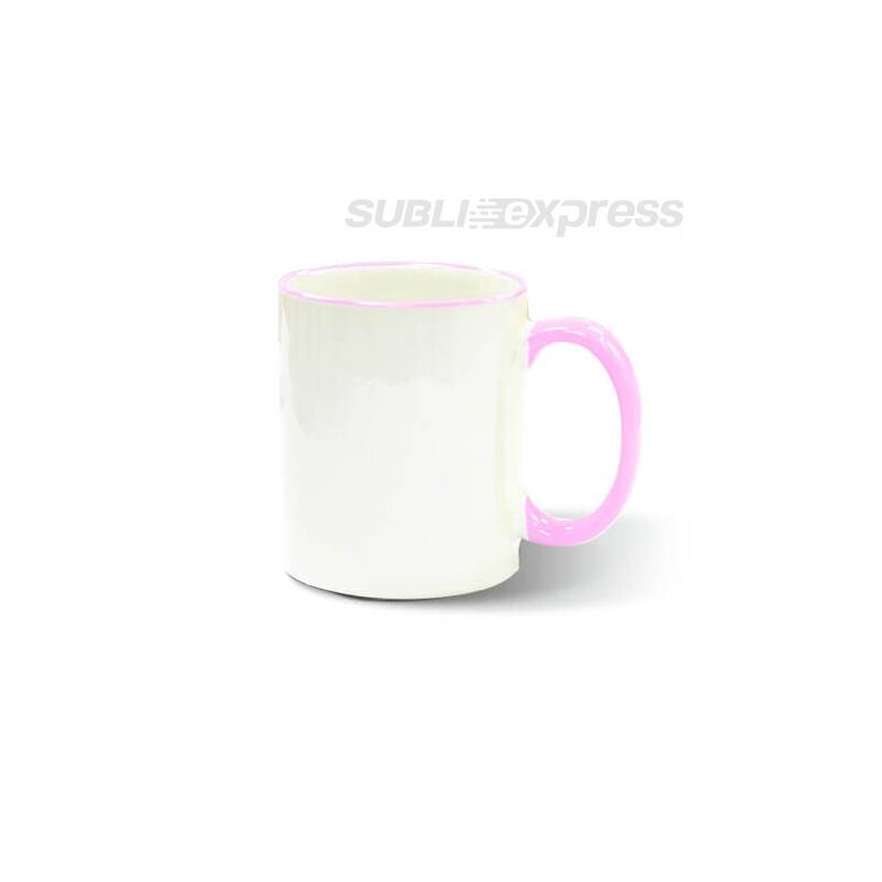 330 ml-es szublimációs bögre rózsaszín füllel A+ osztály