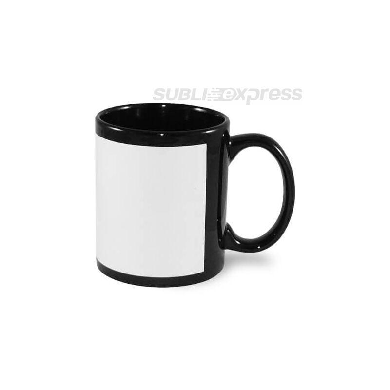 330 ml-es keretben szublimálható fekete bögre