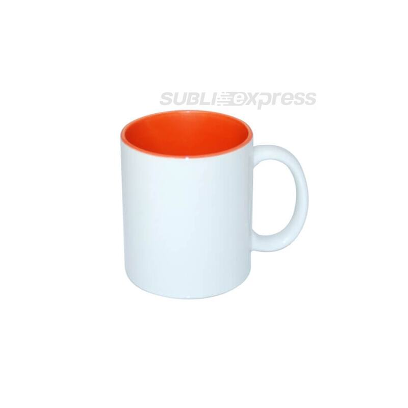 330 ml-es szublimációs bögre narancssárga belsővel A+ osztály