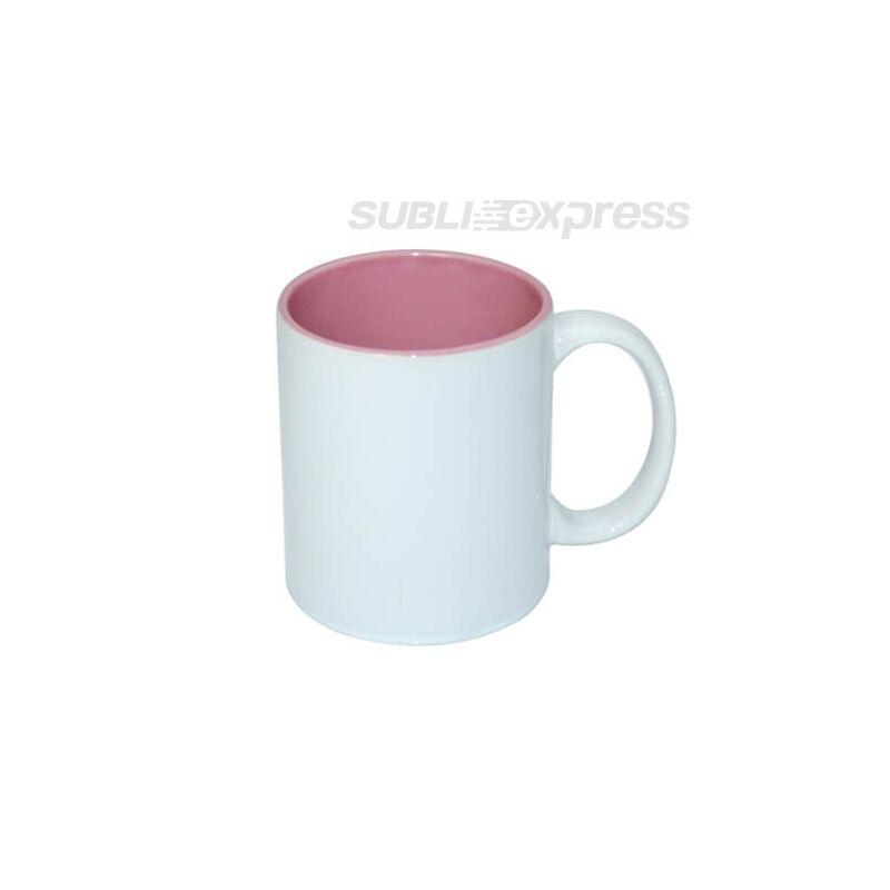 330 ml-es szublimációs bögre rózsaszín belsővel A+ osztály