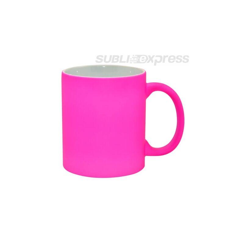 Matt rózsaszín neon bögre