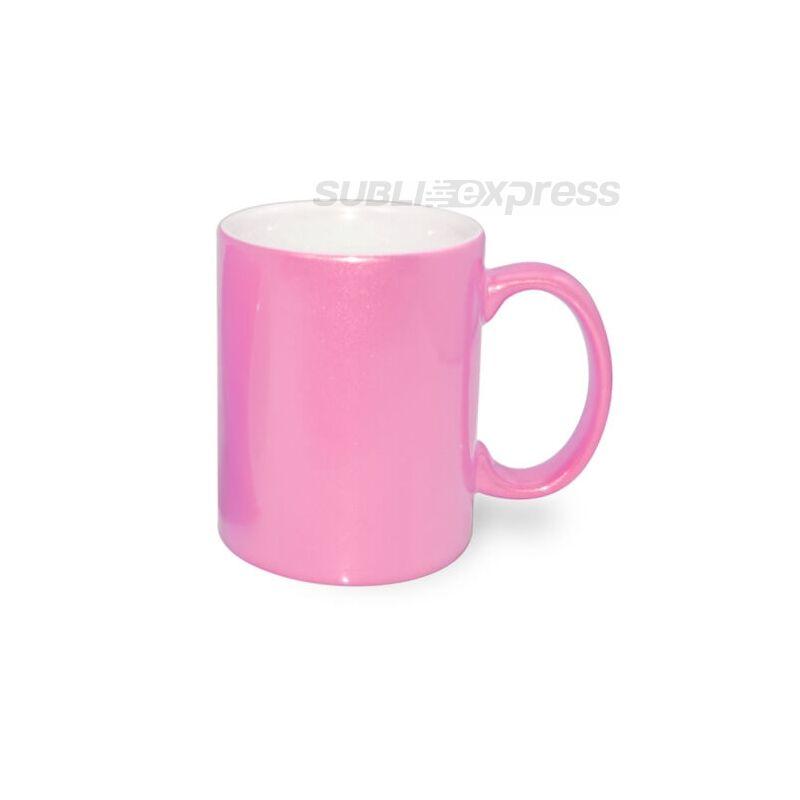 330 ml-es metál rózsaszín bögre
