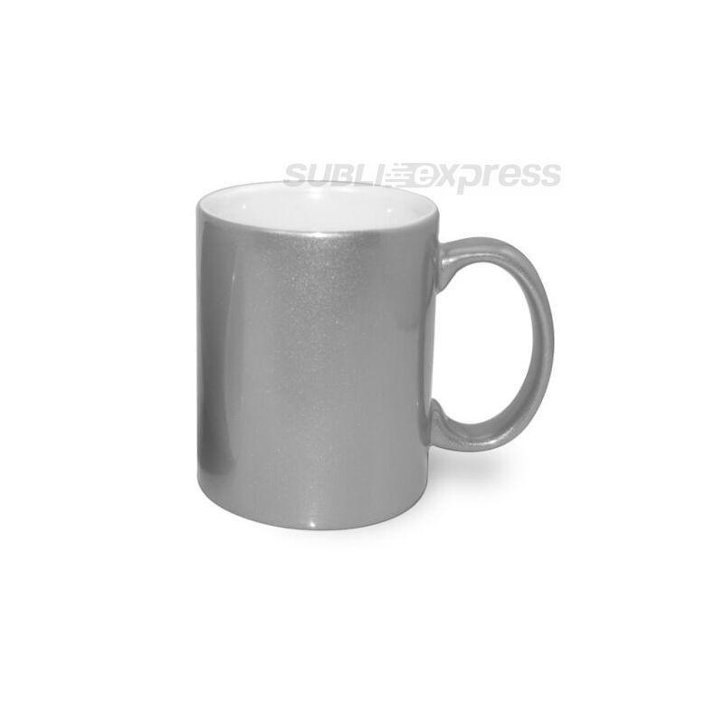 330 ml-es metál ezüst bögre