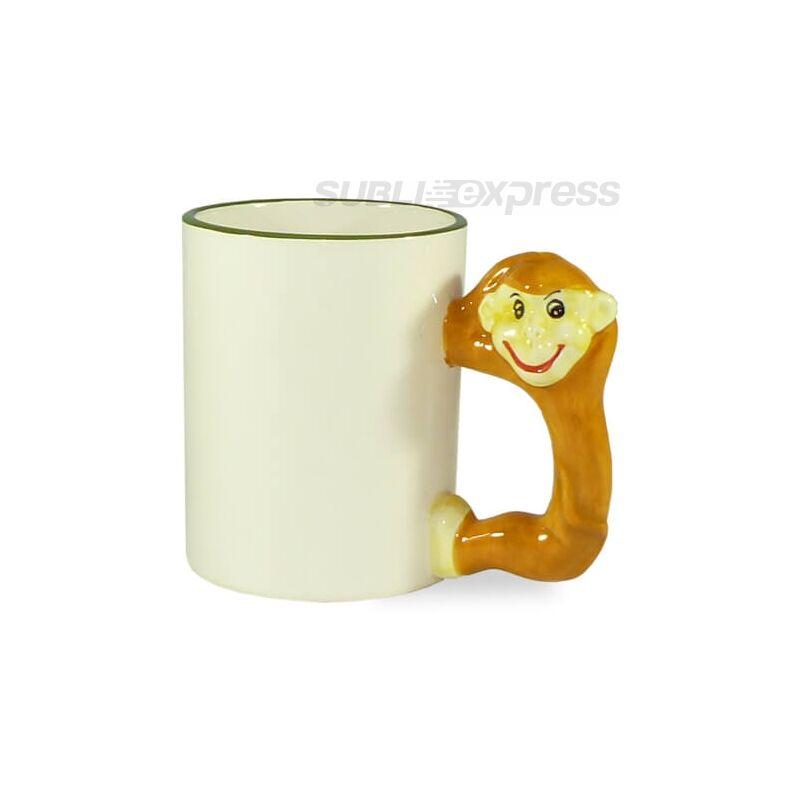 330 ml-es szublimációs bögre majmos