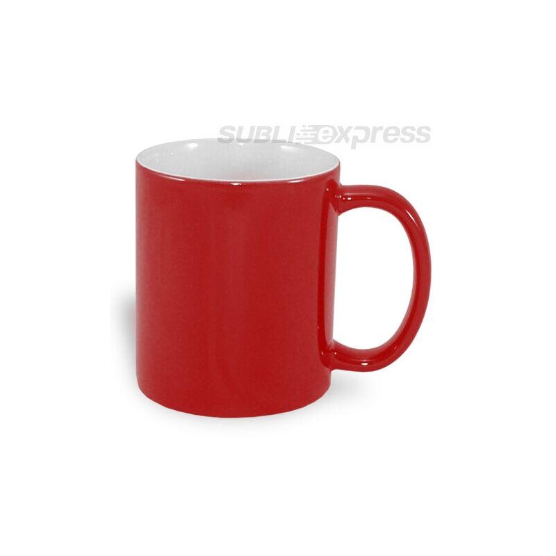 330 ml-es színváltós piros ECO bögre