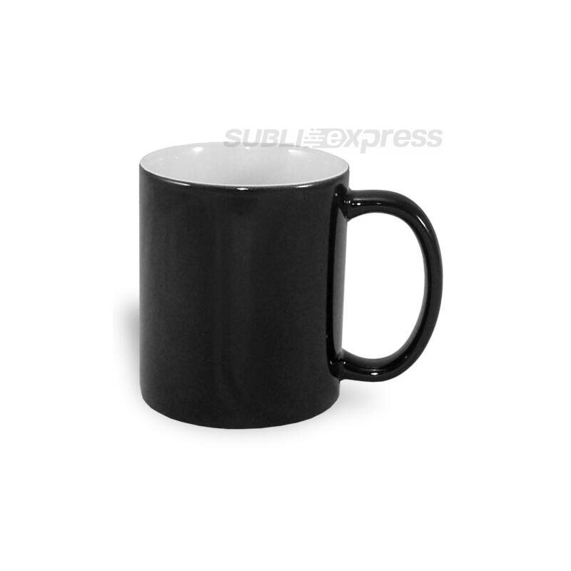 330 ml-es színváltós fekete ECO bögre
