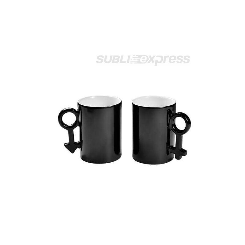 300 ml-es páros színváltós fekete bögrék