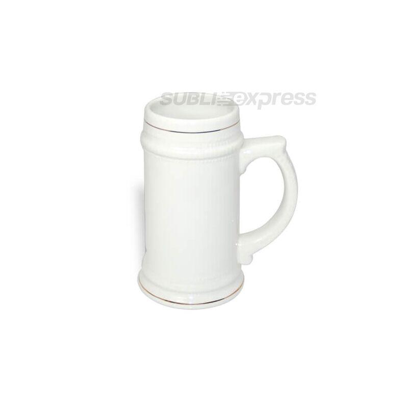 660 ml-es söröskorsó fehér arany szegéllyel
