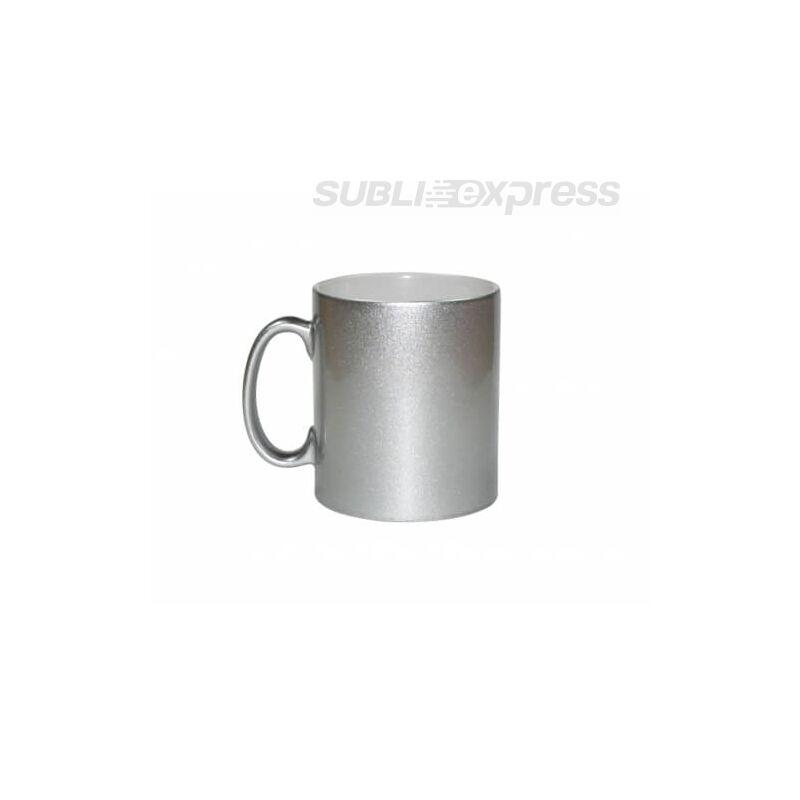 300 ml-es metál ezüst bögre