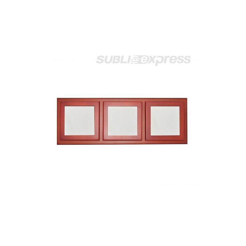 11 x 11 cm-es három ablakos fakeret kerámia csempével