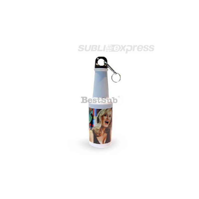 400 ml-es szublimációs turista kulacs palack alakú fehér