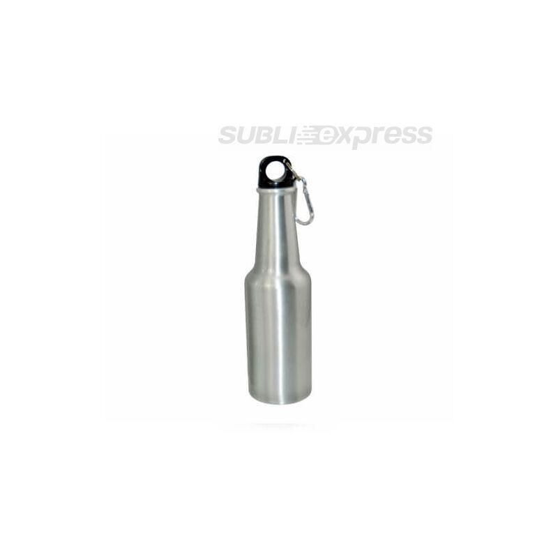400 ml-es szublimációs turista kulacs palack alakú ezüst