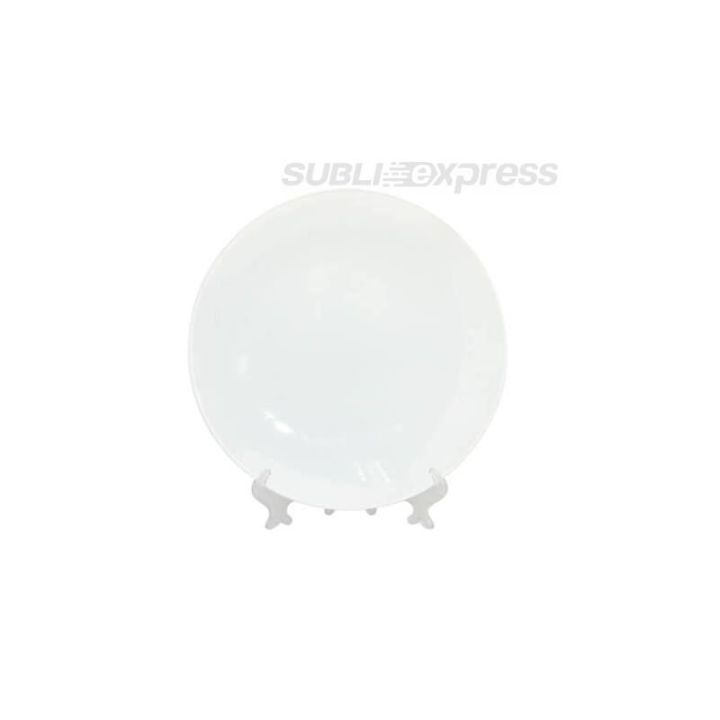 20 cm átmérőjű szublimációs tányér állványal