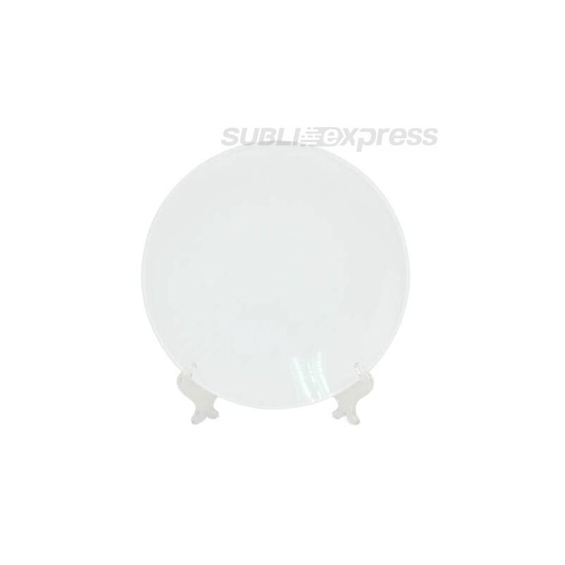 25 cm átmérőjű szublimációs tányér állványal