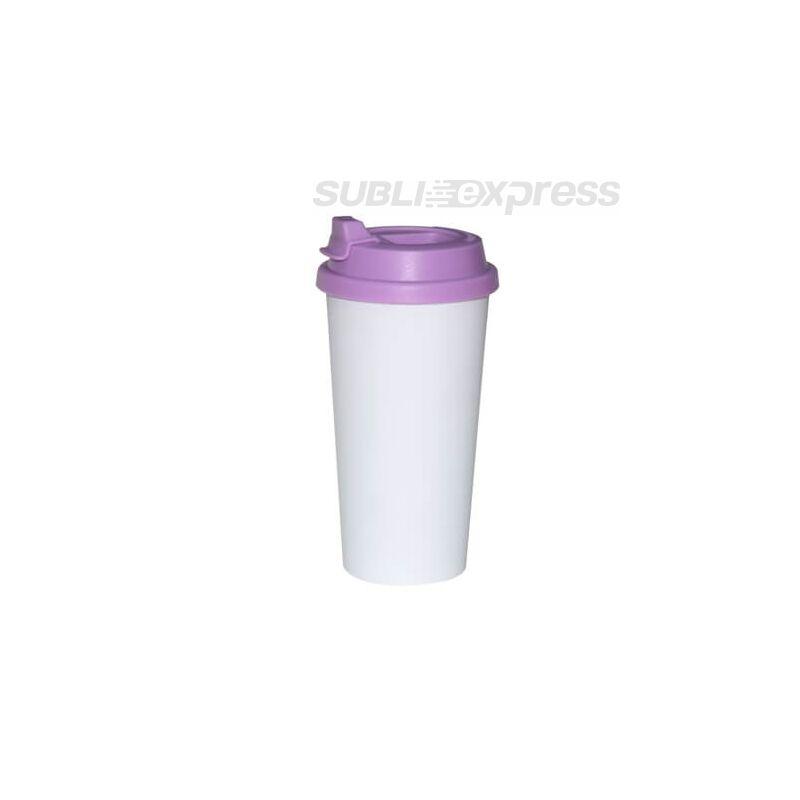 ECO pohár bögre lila fedővel