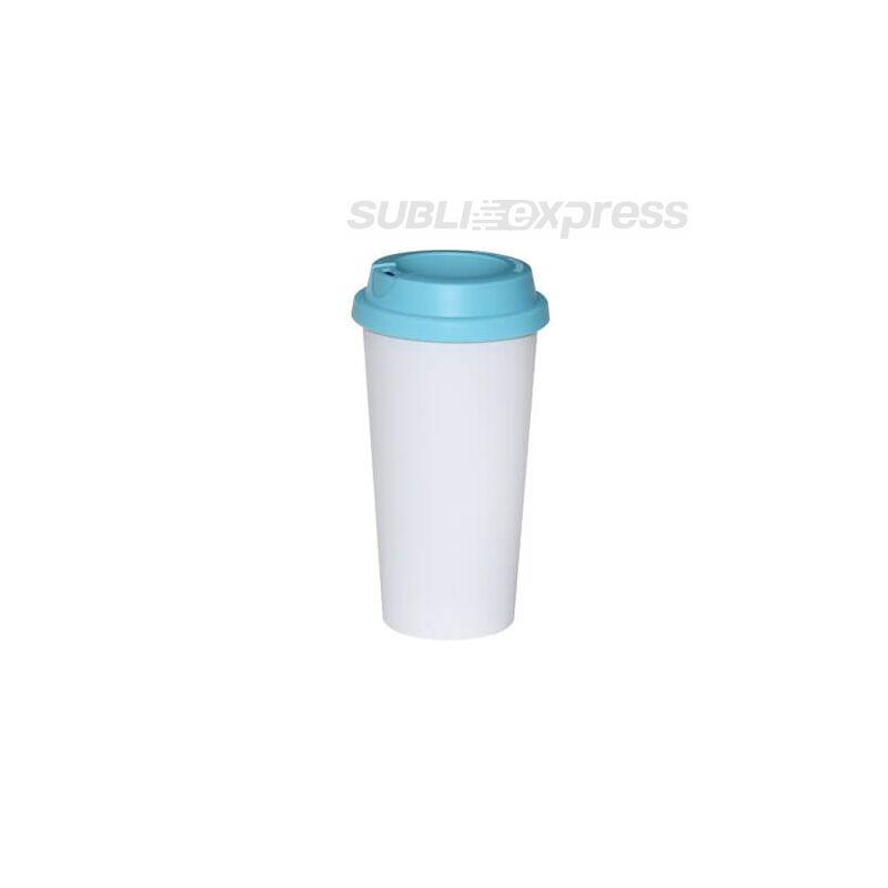 ECO pohár bögre világoskék fedővel