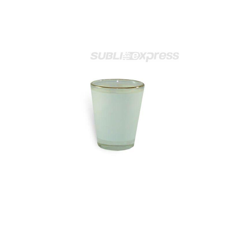 45 ml-es szublimációs üvegpohár arany csíkkal