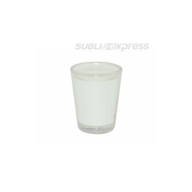 45 ml-es átlátszó üvegpohár szublimációs felülettel