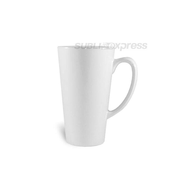 450 ml-es fehér nagy latte szublimációs bögre A+ osztály
