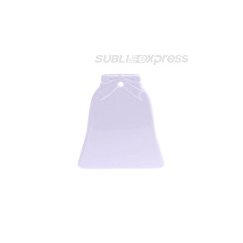 Szublimációs műanyag medál harang alakú