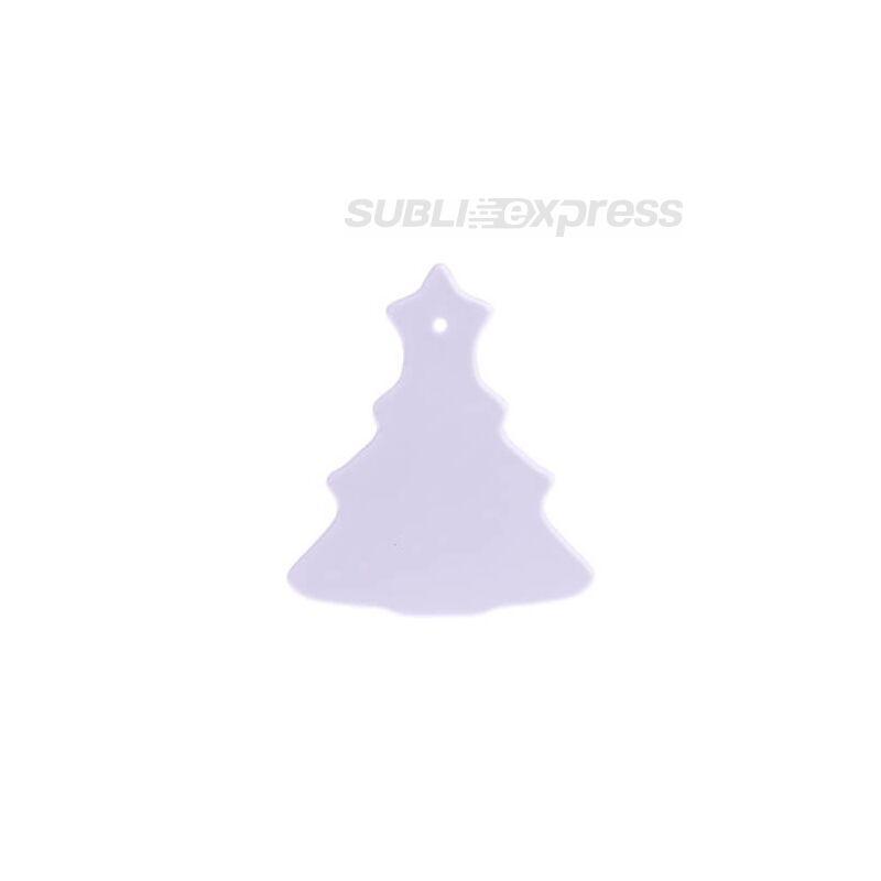 Szublimációs műanyag medál karácsonyfa alakú kicsi