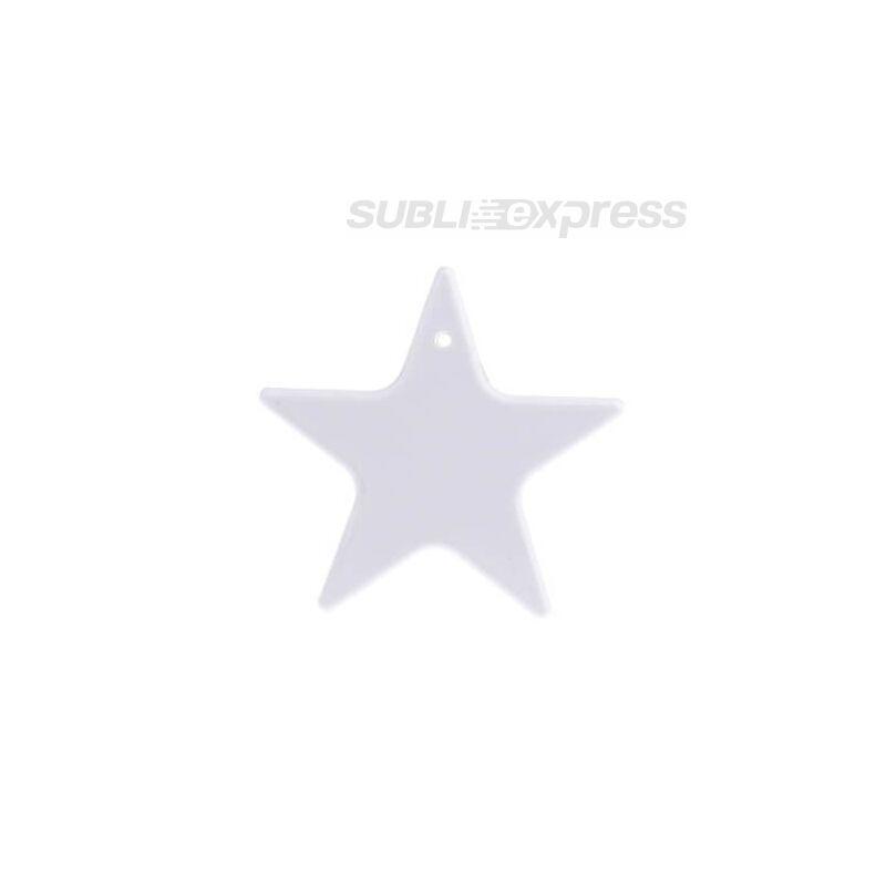 Szublimációs műanyag medál csillag alakú