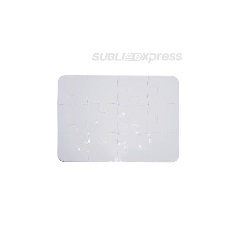 13 x 9,5 cm-es szublimációs műanyag puzzle 12 darabos