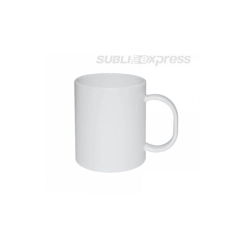 330 ml-es műanyag fehér bögre
