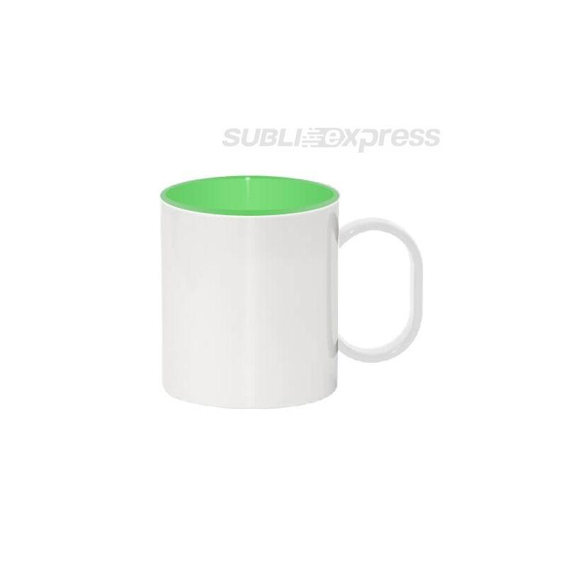 330 ml-es műanyag bögre zöld belsővel
