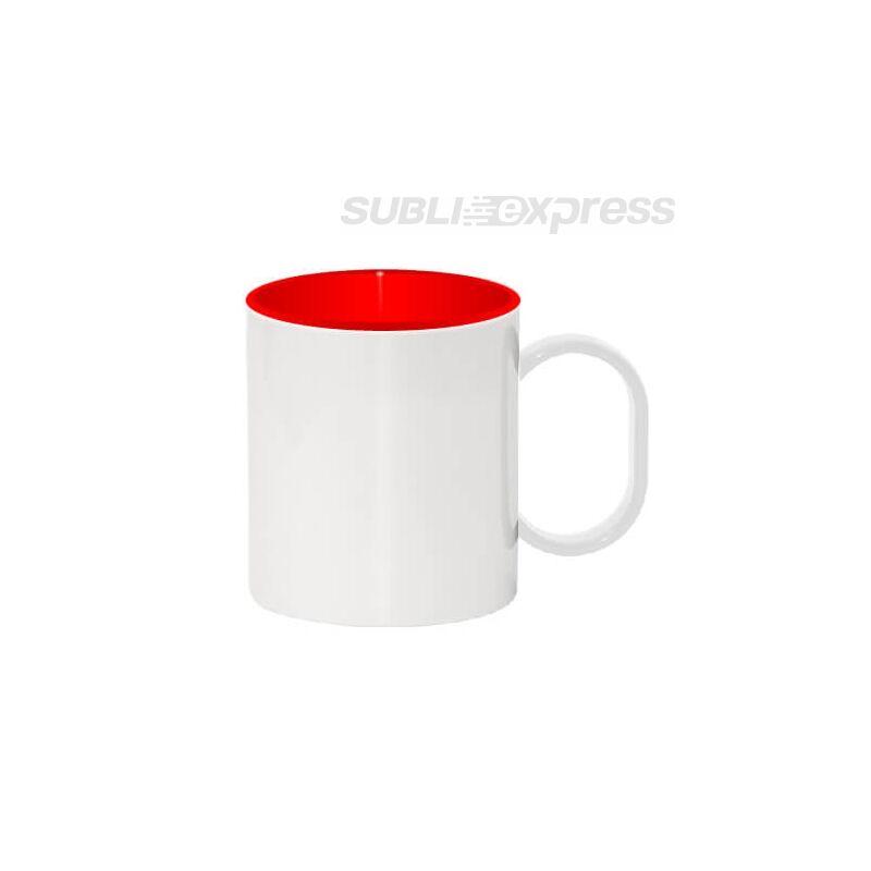 330 ml-es műanyag bögre piros belsővel