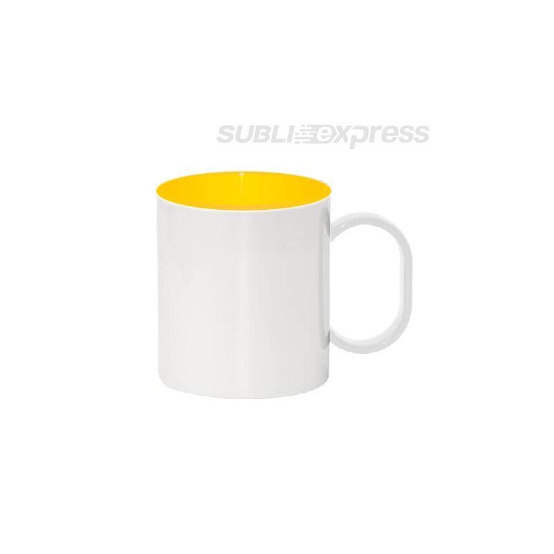 330 ml-es műanyag bögre sárga belsővel
