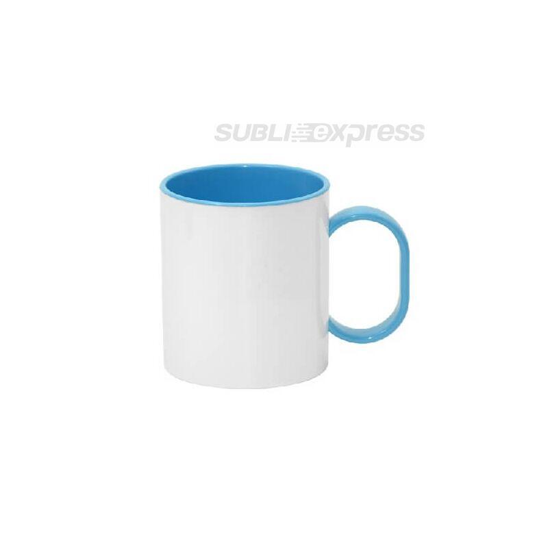 330 ml-es műanyag bögre kék füllel és belsővel
