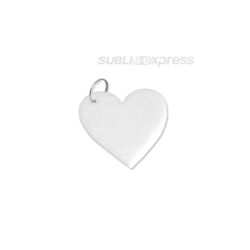 Szublimációs filc kulcstartó szív alakú