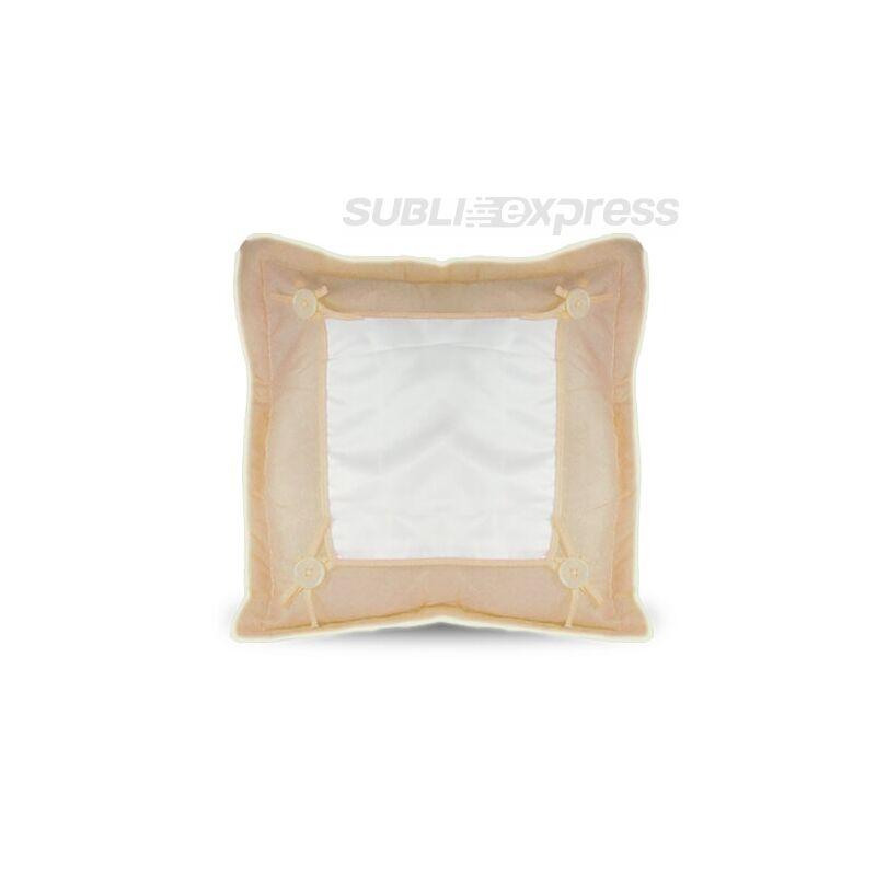 40 x 40 cm-es prémium minőségű párnahuzat világosbarna