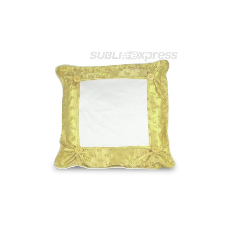 40 x 40 cm-es prémium minőségű párnahuzat sárga