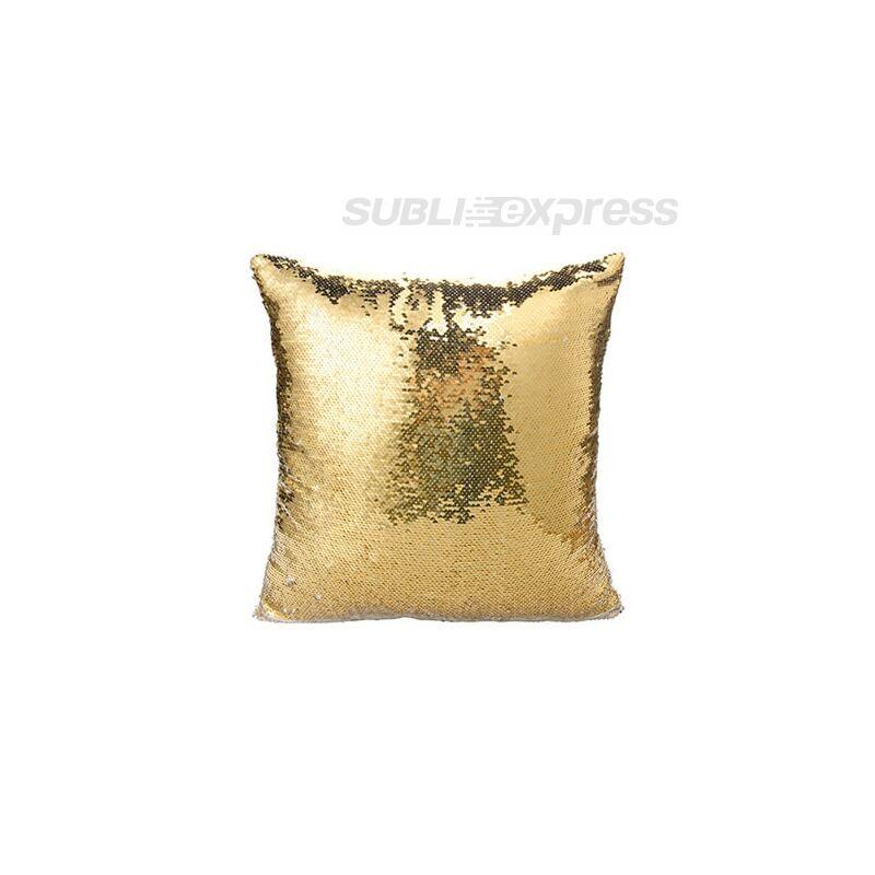 40 x 40 cm-es flitteres párnahuzat arany szinű