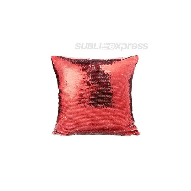 40 x 40 cm-es flitteres párnahuzat piros szinű