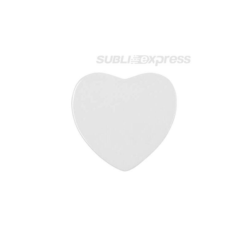 6,8 x 6,5 cm-es szublimációs kerámia hűtőmágnes szív alakú