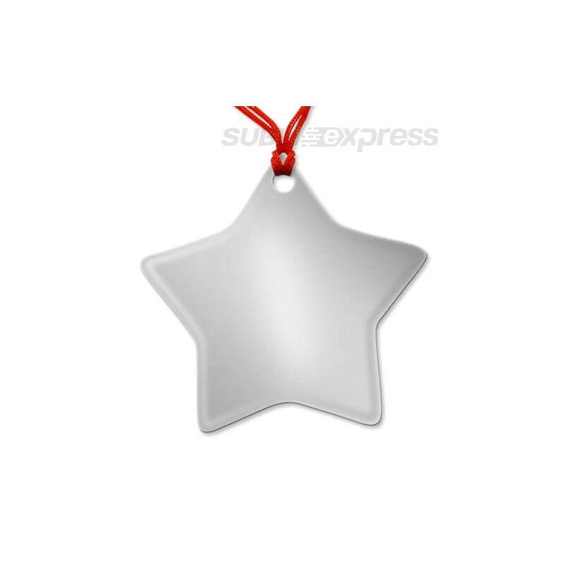 Szublimációs medál csillag alakú