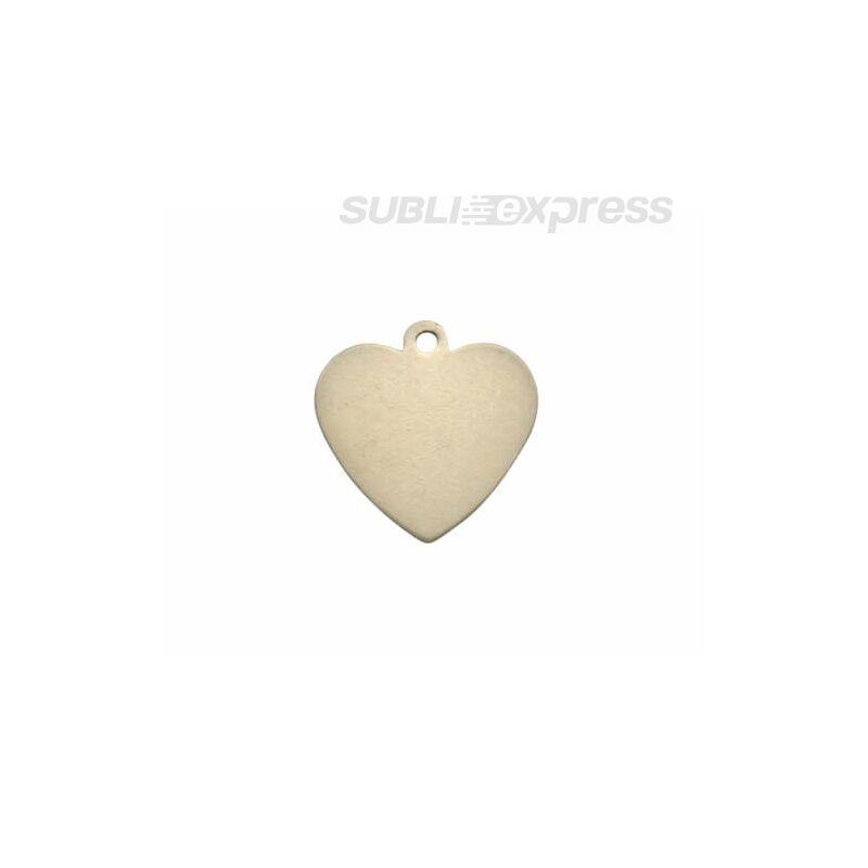 Szublimációs medál szív alakú