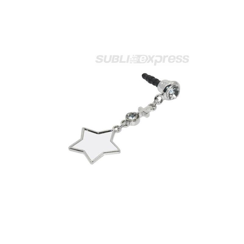 Szublimációs dugasz fejhallgató-aljzatra csillag alakú