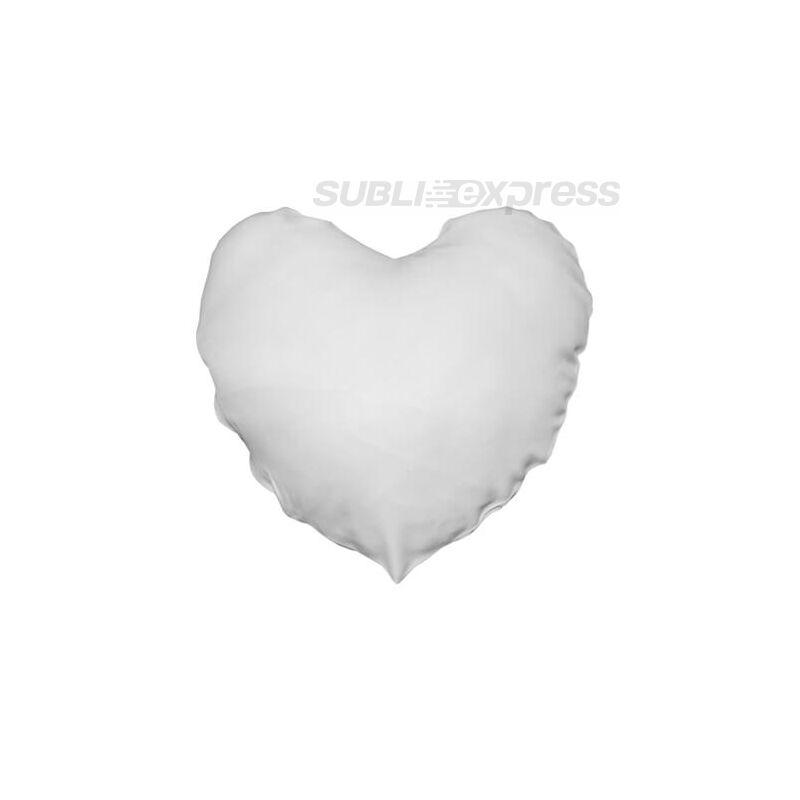 40 x 40 cm-es szublimációs poliészter párnahuzat szív alakú