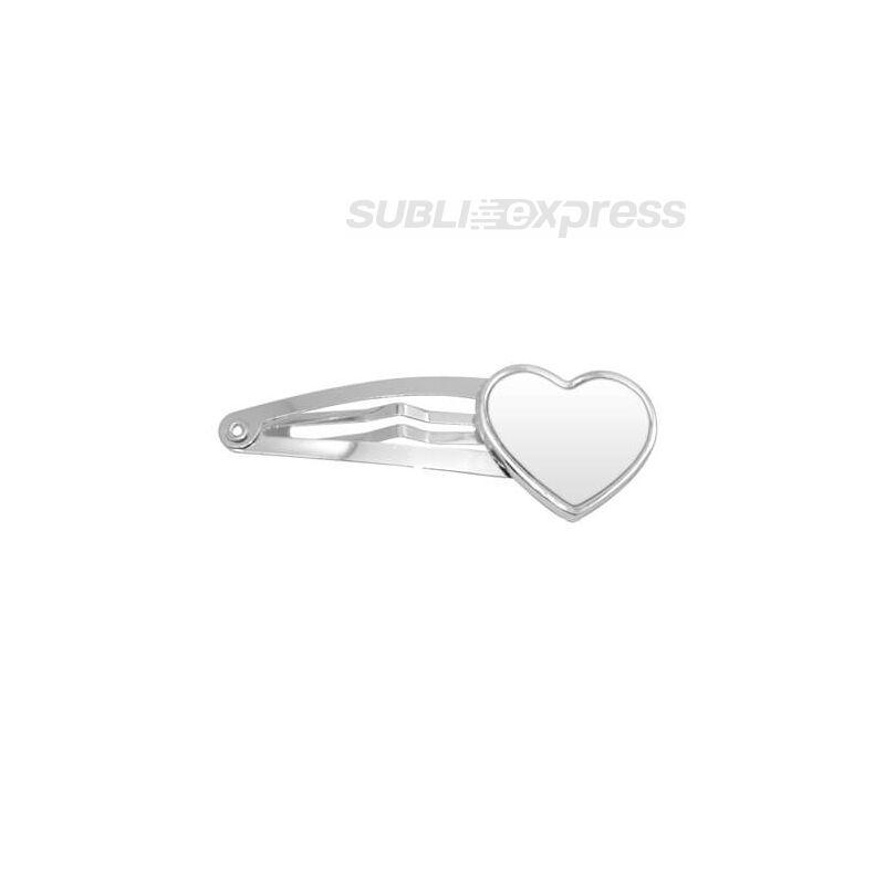 Szublimációs hajcsat szív alakú