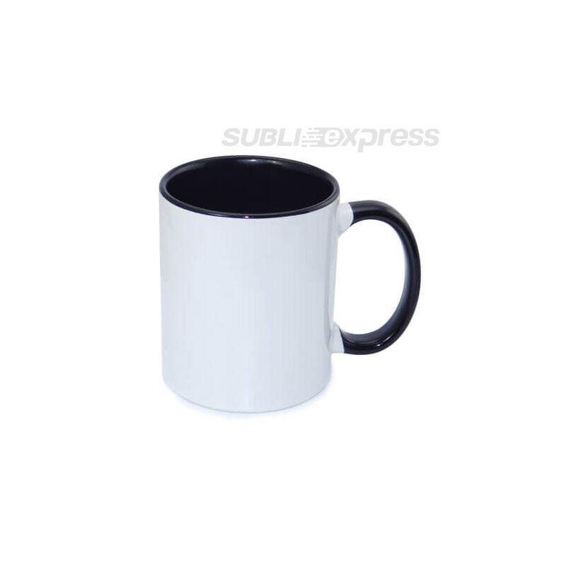 330 ml-es bögre fekete füllel és belsővel A+ osztály