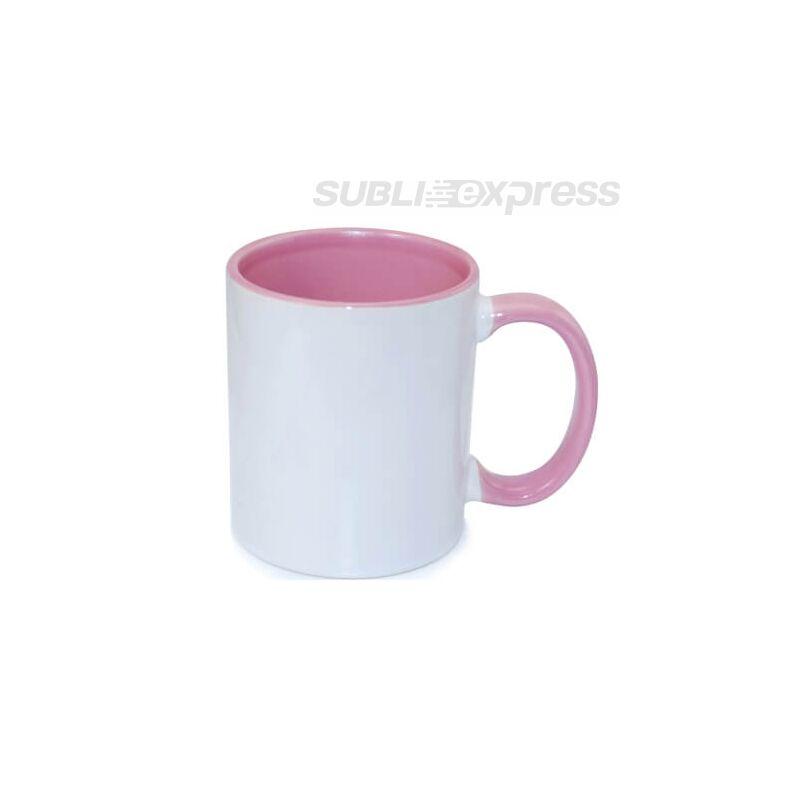 330 ml-es bögre rózsaszín füllel és belsővel A+ osztály