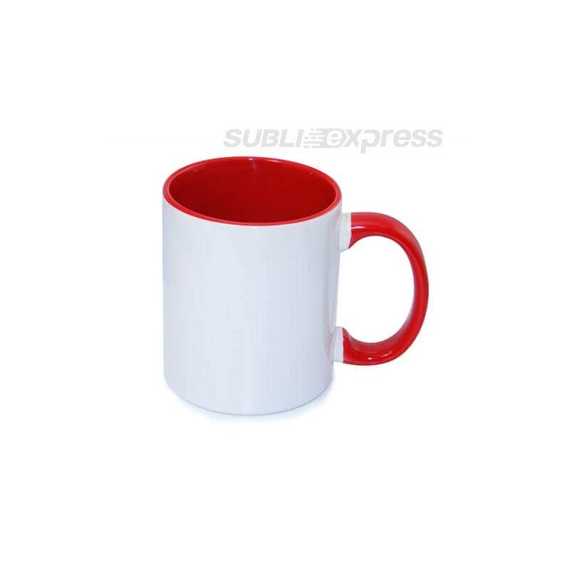 330 ml-es bögre piros füllel és belsővel A+ osztály