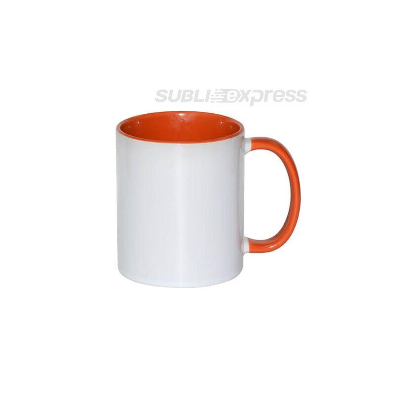 330 ml-es bögre narancssárga füllel és belsővel A+ osztály