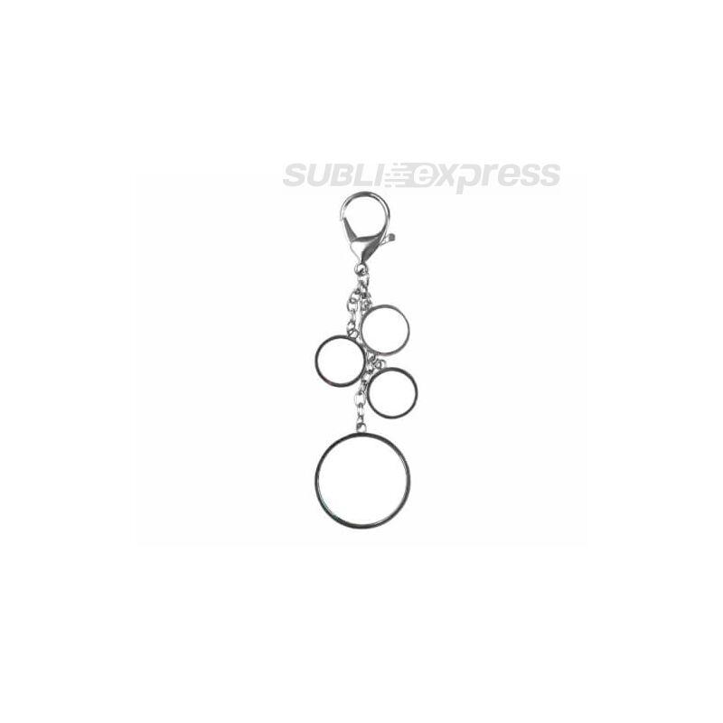 Szublimációs fém kulcstartó négy kör alakú felülettel