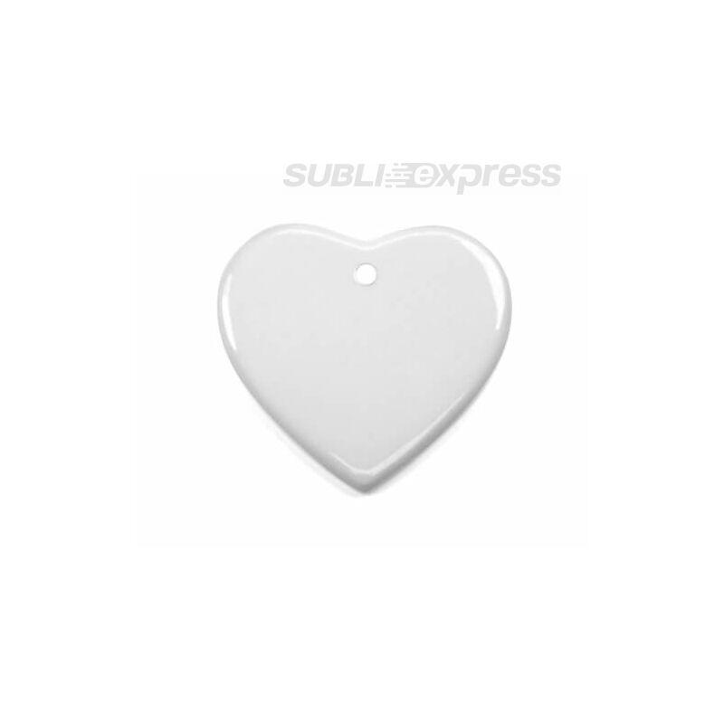 Szublimációs díszcsempe szív alakú